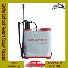 16L Garden Backpack Pressure Sprayer Knapsack Weed Chemical Weedkiller 3 Nozzle*