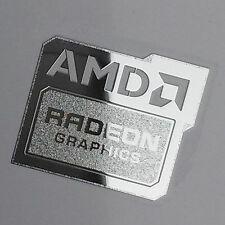 AMD Radeon Graphics Chrome Metal Sticker Case Badge | New Version | USA Seller!