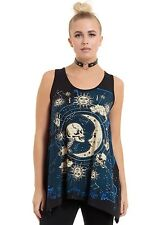 Jawbreaker T-shirt Moonstone Lace up Back Top Alternative Festival Punk Sta2625 L Uk12 Cotton