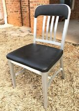 General Goodform Aluminum Side Chair Padded Industrial Mid Century Modern MCM