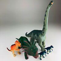 VINTAGE 1980s Dor Mei Dinosaur Styracosaurus Carnegie Safari Brachiosaurus LOT