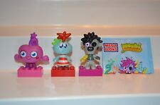 LOT 3 MOSHI MONSTER MOSHLINGS Collectible Mega Bloks Mini Figures 80600