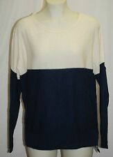 C by BLOOMINGDALES 100% 2 Ply Cashmere Colorblock Sweater L $178 NWT FREE SHIP