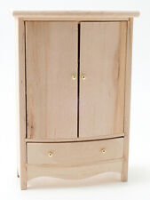 Miniature Dollhouse Unfinished Armoire 1:12 Scale New