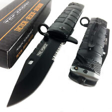 TAC-FORCE Serrated Blade Tactical Outdoor Rescue Pocket Knife w/ glass breaker