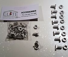 10 Elite Greenhouse Aluminium 11mm long Cropped Head Bolts & Nuts - Rust Free