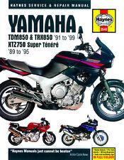 HAYNES 3540 MOTORCYCLE REPAIR OWNER MANUAL YAMAHA TDM850 TRX850 XTZ750 1989 - 99