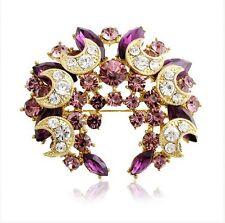 Meravigliosi Brillante Viola Luna Composizione Cristallo Cerchio Della Corona