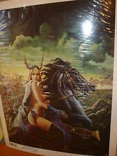 Paul Gulacy Signed Original Art Print SIEGE LTD#120/7000! 1981!