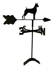 boxer  weathervane black wrought iron look roof mount made in usa TLS1005RM