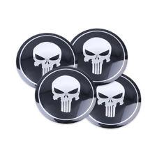 Etiqueta engomada del centro de rueda de coche Punisher Tapacubos Emblema Insignia Calcomanía 4 un. 56 mm de diámetro