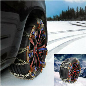 Wheel Tire Anti-skid Chains Emergency Belt Winter Universal Fit For Car Truck
