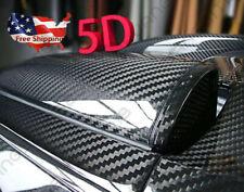 US Shiping 5D Ultra Gloss Glossy Carbon Fiber Vinyl Wrap Sticker Decal 30X152CM
