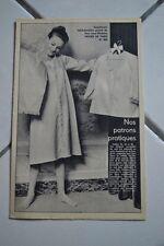 """"""" MODES de PARIS """" PATRON SUPPL. DU N°904 // ENSEMBLE DE NUIT TAILLES 42 44 46"""