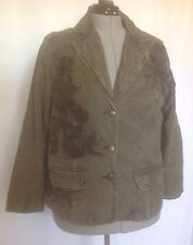 Coldwater Creek Floral Embroidery Jacket Blazer Button Front Size W18