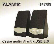 CASSE ACUSTICHE USB 2.0 ALANTIK SP175N NERE 2W AUTOALIMENTATE
