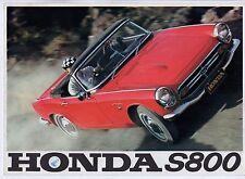 Honda S800 1966-67 marché du royaume-uni rabattable ventes brochure roadster coupé