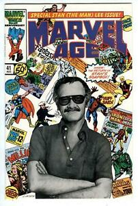 Marvel Age #41 Stan (The Man) Lee Photo Cover special. Must have for Stan's fans