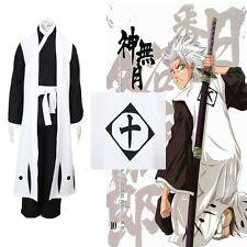 Bleach 10th Division Captain Toushiro Hitsugaya Death Cosplay Costume Full Suit