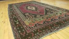 "Exquisite Antique 1935-1940's Wool Pile Natural Color Oushak Area Rug 4'1""×7'8& #034;"
