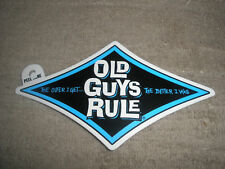 "OLD GUYS RULE "" THE OLDER I GET..BETTER I WAS "" BLUE DIAMOND BEACH DECAL STICKER"