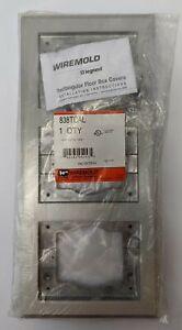 Wiremold Legrand 3 Gang Aluminum Tile Flange 838TCAL