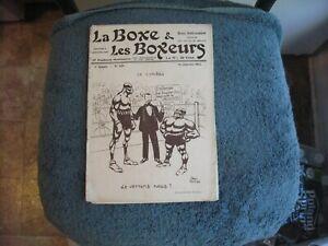 VINTAGE ORIGINAL 1914 LA BOXE & LES BOXEURS MAGAZINE WITH CARPENTIER