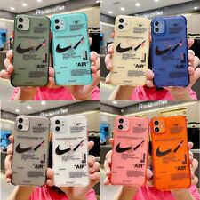 Nike Neon AIR JK Off-White Plain Couple Phone Case Cover For iPhone11Pro 8 XR XS