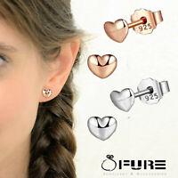 Genuine 925 Sterling Silver Rose Gold Chic Minimalist Trendy Ear Studs Earrings