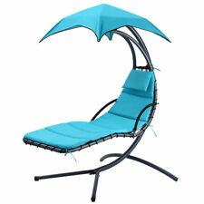 Garden Hammock Chair Hanging Rope Swing Seat W/2 Cushions Indoor Outdoor Camping