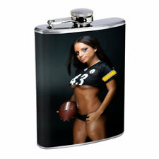Florida Pin Up Girls D10 Flask 8oz Stainless Steel Hip Drinking Whiskey