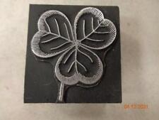 Printing Letterpress Printer Block Decorative Three Leaf Clover Print Cut