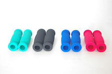 SCOOTER / MOPED SOFT FOAM HANDLE BAR GRIPS ONE SIZE BLACK GREEN RED BLUE NEW