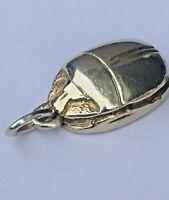 Anhänger Amulett Skarabäus Käfer Ägypten Glücksbringer 925 Silber (1178)