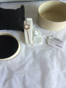 Links of London Rose Gold Plated Diamond Essentials Horseshoe Bracelet  New box/