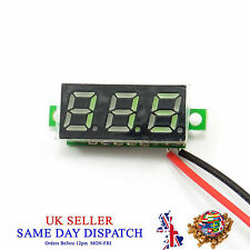 DC 0.28 2.5V-30V Mini Voltmeter Digital Green LED Voltage Tester Meter 12V Car