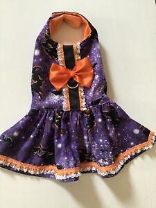 Handmade  Halloween  Doggie Dress  Harness S