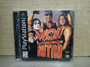 WCW Nitro (Sony PlayStation 1 PS1, 1998) PSX Black Label - Complete CIB - TESTED