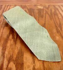 vintage Harvey limité. VERT CLAIR TRICOT LIN SOIE CRAVATE CRAVATE 142cm 7.6cm