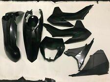 KIT PLASTICHE KTM EXC 125 250 300 2014 2015 2016 5 PZ COLORE NERO