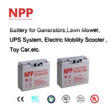 NPP 12V 18 Ah Rechargeable SLA Battery Replace UB12180 D5745 PS-1218 / (2pcs)