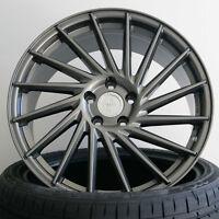 18 Zoll ET45 5x112 Keskin KT17 Grau Alufelgen für VW Golf 7 GTI + Performance AU