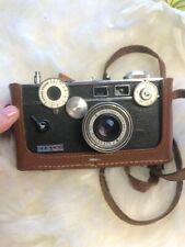 "Vintage Argus 35mm Film Camera ""the brick"" 50mm f/3.5 Lens With Leather Case"