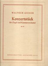 Konzertstück für Orgel und Kammerorchester Opus 30 (1944)