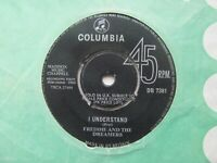 """FREDDIE & THE DREAMERS I Understand/I Will UK 7"""" Single VG+ Cond"""