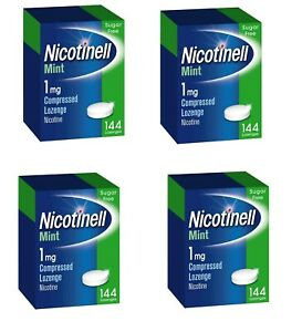 Nicotinell 1mg mint lozenges regular strength 144 pieces 4xPACK