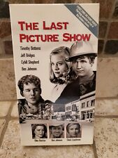 The Last Picture Show Vhs 1991 movie tape Jeff Bridges Cybill Shepherd