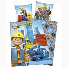 Official Bob The Builder Single Duvet Cover Set 100% Cotton Kids Bedding