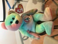 TY rare 1996 peace beanie baby excellent condition