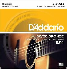 D'Addario Acoustic Guitar Strings EJ14 80/20 Bronze Light Top Medium 1 Pack